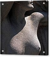 Sculpture Of Angelic Female Body Acrylic Print