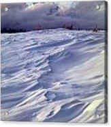 1m9347-sculptured Snow And Grand Teton Acrylic Print
