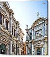 Scuola Grande Di San Rocco And San Rocco Church Acrylic Print