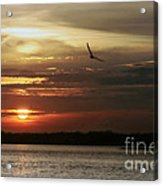 Sea Bright Sunset Acrylic Print