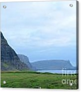 Sea Cliffs At Neist Point In Scotland Acrylic Print