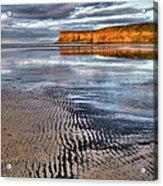 Sea Coal Saltburn Sunset Acrylic Print