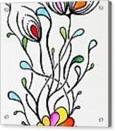 Sea Flowers Acrylic Print by Carolyn Weir