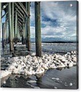 Sea Foam And Pier Acrylic Print