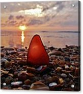 Sea Glass Sunrise And Shells 9 10/18 Acrylic Print