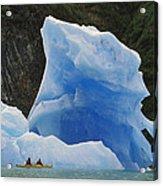 Sea Kayaking With Icebergs Tracy Arm Acrylic Print
