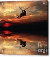 Sea King Sunset  Acrylic Print