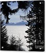 Sea Of Fog Over An Alpine Lake Acrylic Print
