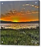 Sea Of Galilee Sunset Acrylic Print