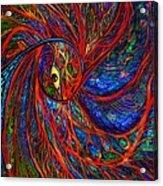 Sea Of Peacock Acrylic Print