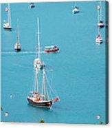 Sea Of Sailboats Acrylic Print