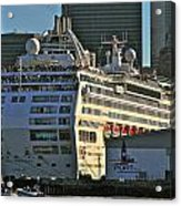 Sea Princess At Pier 29 San Francisco Acrylic Print