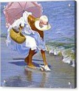Sea Shell Pink Acrylic Print