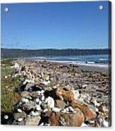 Sea Shore With Rocks Acrylic Print