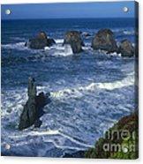 Sea Stacks Central Coast Near Rockport California Acrylic Print