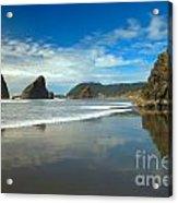 Sea Stacks In Blue Acrylic Print