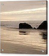 Sea Stacks Panorama Acrylic Print