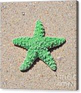 Sea Star - Green Acrylic Print by Al Powell Photography USA
