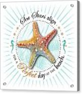 Sea Stars Align For A Perfect Day At The Beach Acrylic Print by Amy Kirkpatrick