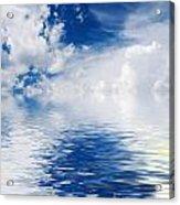 Sea Sun And Clouds Acrylic Print