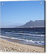Sea With Table Mountain Acrylic Print