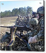 Seabees Fire The M2 .50-caliber Machine Acrylic Print