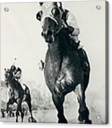 Seabiscuit Horse Racing #3 Acrylic Print