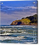Seacape Acrylic Print by Robert Bales