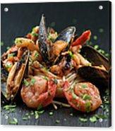 Seafood Pasta Acrylic Print