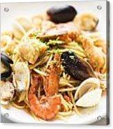 Seafood Pasta Dish Acrylic Print