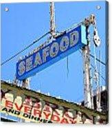 Seafood Sign Acrylic Print