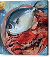 Seafood Still Life Acrylic Print