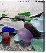 Seaglass And Seaweed Acrylic Print