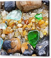 Seaglass Art Prints Coastal Beach Sea Glass Acrylic Print by Baslee Troutman