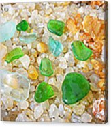Seaglass Green Art Prints Agates Beach Garden Acrylic Print