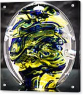 Seahawks Glass -  Solid Glass Sculpture  Acrylic Print