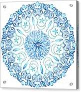 Seahorse Mandala Acrylic Print