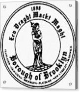 Seal Of Brooklyn Acrylic Print