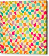 Seamless Color Mosaic Background Acrylic Print