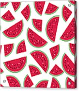Seamless Colorful Pattern With Red Acrylic Print