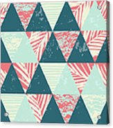 Seamless Exotic Pattern With Palm Acrylic Print