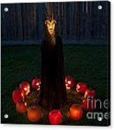 Seance Pumpkins Demon Acrylic Print