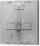 Seaplane Patent Drawing Acrylic Print