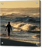 Searching For The Perfect Wave Acrylic Print