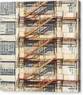 Sears Crosstown Fire Escape Memphis Tn Acrylic Print