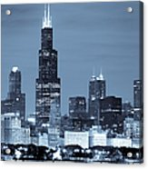 Sears Tower In Blue Acrylic Print by Sebastian Musial