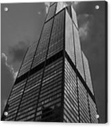 Sears Willis Tower Black And White 01 Acrylic Print
