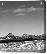 Seascape - Panorama - Black And White Acrylic Print