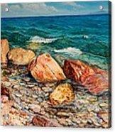 Seascape - Red Rocks  Acrylic Print