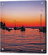 Seascape Silhouette Acrylic Print